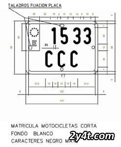 Placa Matrícula Enduro Matriculacorta1