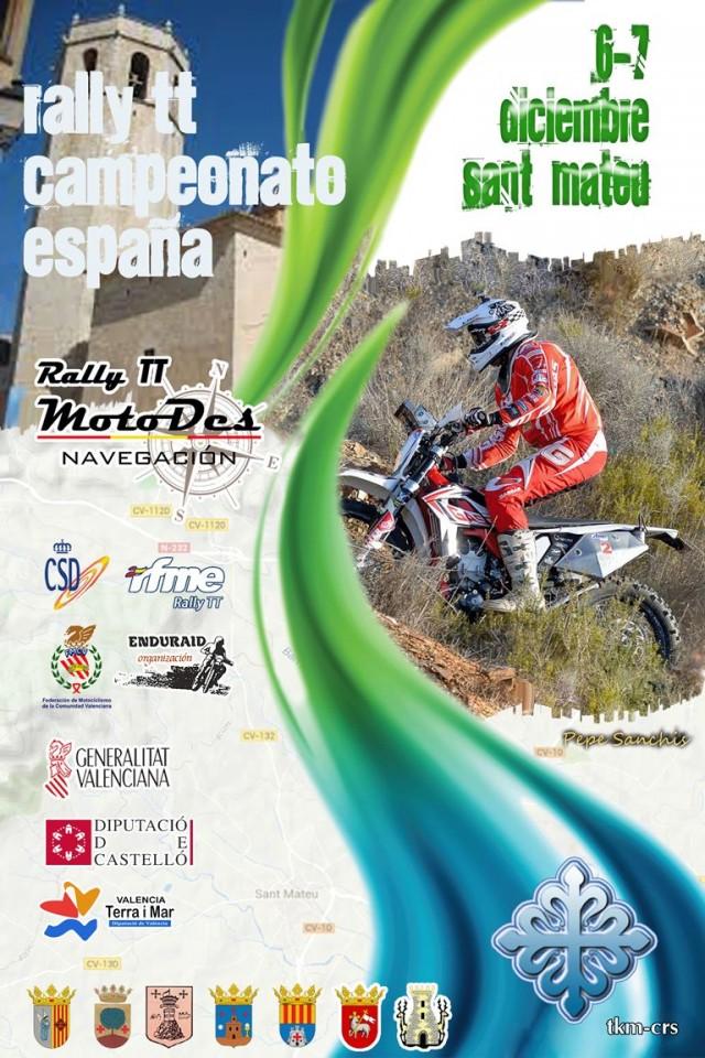 Sant Mateu despedirá el nacional de Rally TT